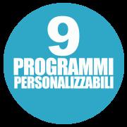 9 programmi personalizzabili